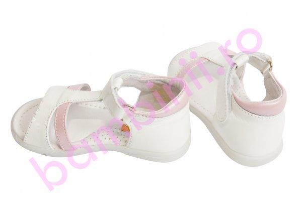 Sandale fete 101 alb roz 19-27