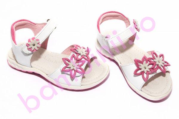 Sandale fete 103 alb roz 24-31