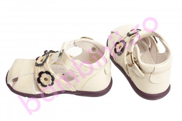 Sandale fete 103 bej lac 19-27