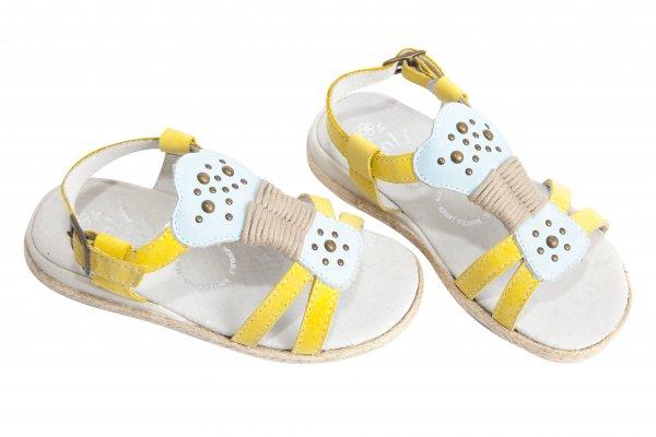 Sandale fete 1092 galben albastru