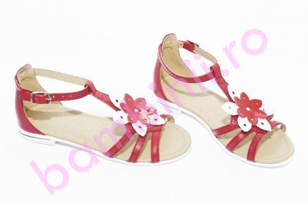 Sandale fete 1318 rosu alb 26-36