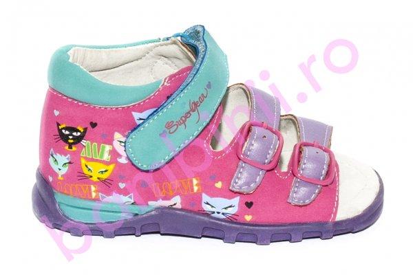 Sandale fete 138 mov roz blue 24 -29