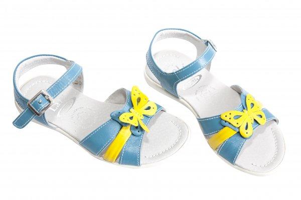 Sandale fete 1414 albastru galben