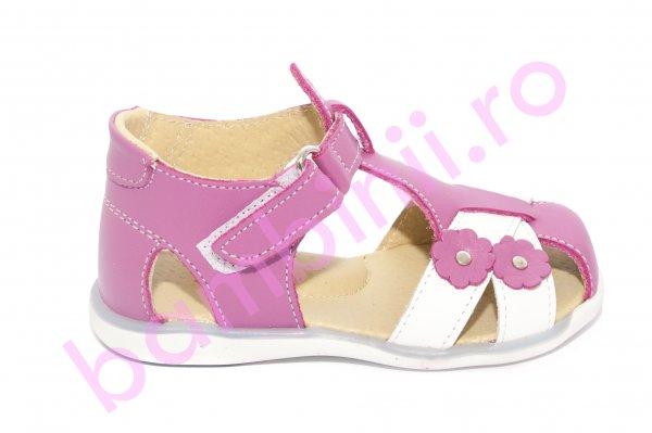 Sandale fete 346 lila inchis alb 18-25