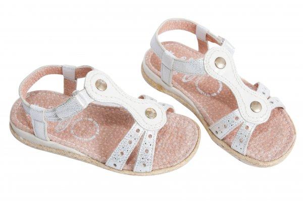Sandale fete 5233 alb 24-36