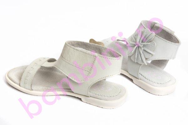 Sandale fete 5268 alb argintiu