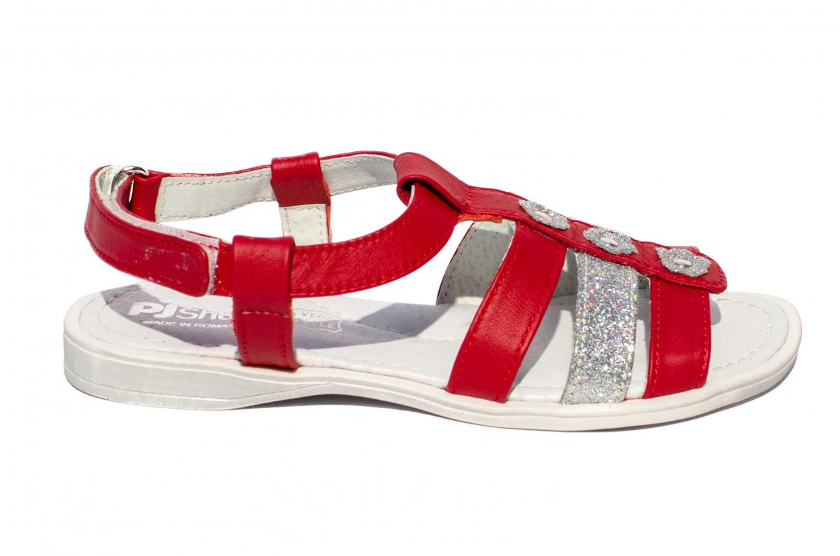 Sandale fete Gladiator rosu arg 27-36