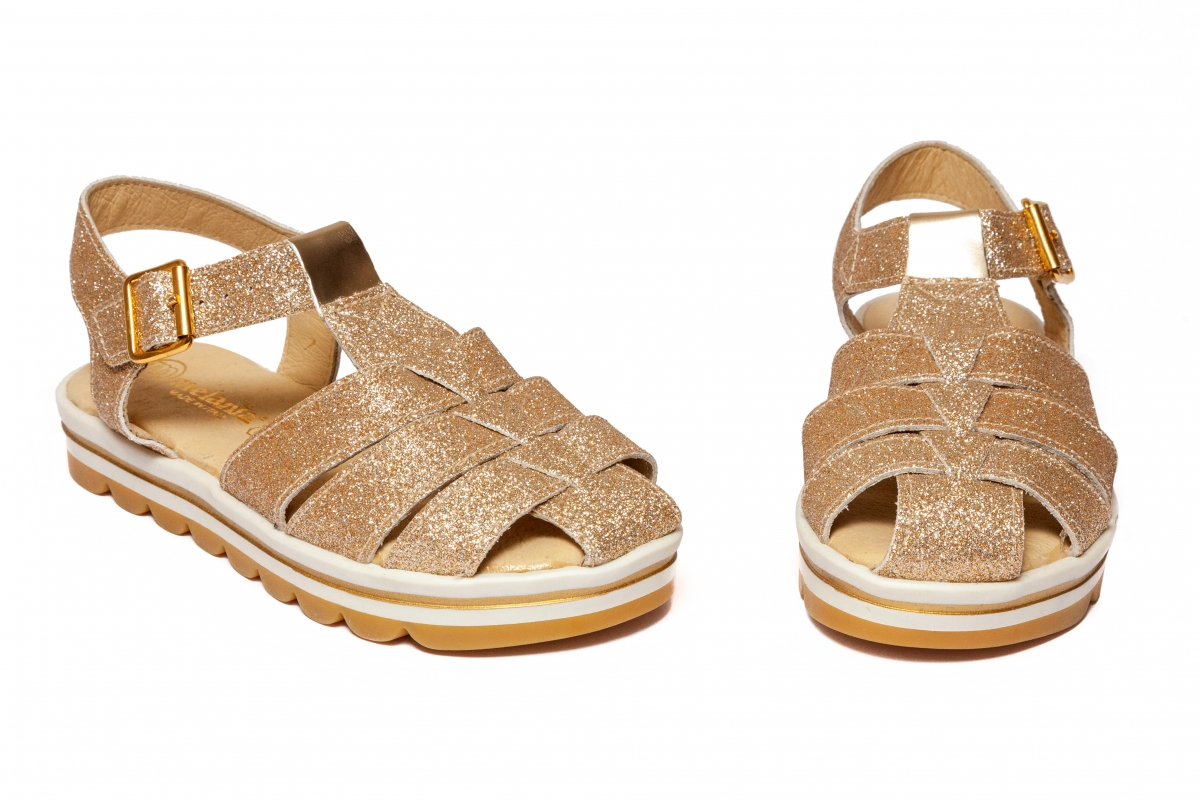 Sandale fete Melania 6101 auriu gliter 26-38