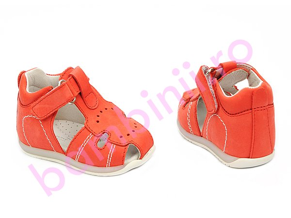 Sandale fete piele Marte corai