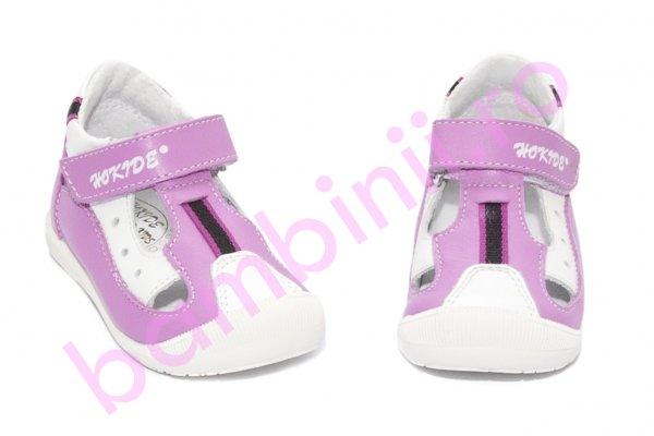 Sandale fete hokide 139 lila alb 18-24