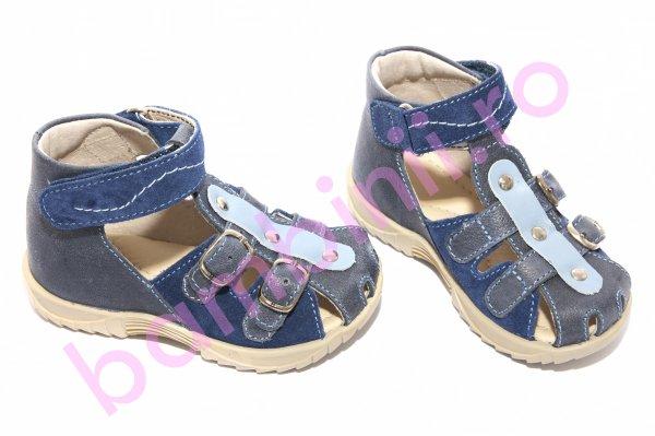 Sandale copii hokide 172 blu bej 18-25