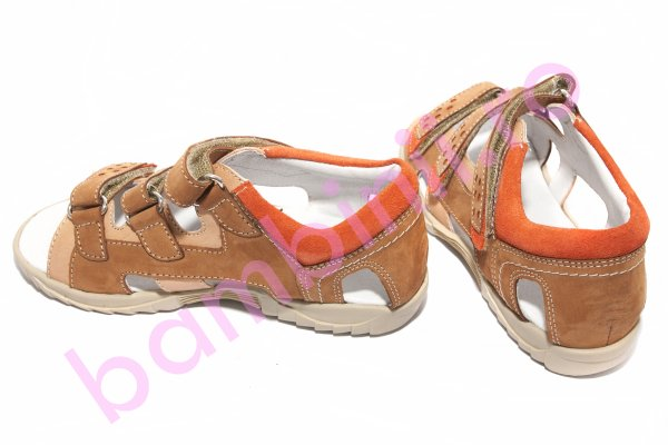 Sandale copii hokide 236 bej maro 26-30