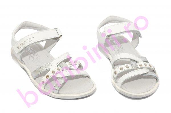 Sandale fete hokide 359 alb arg 26-32