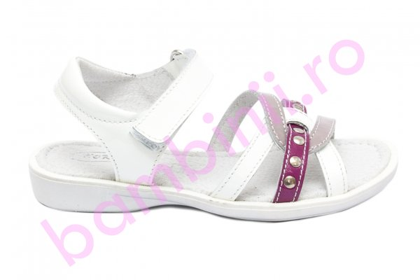 Sandale fete hokide 359 alb roz 26-32