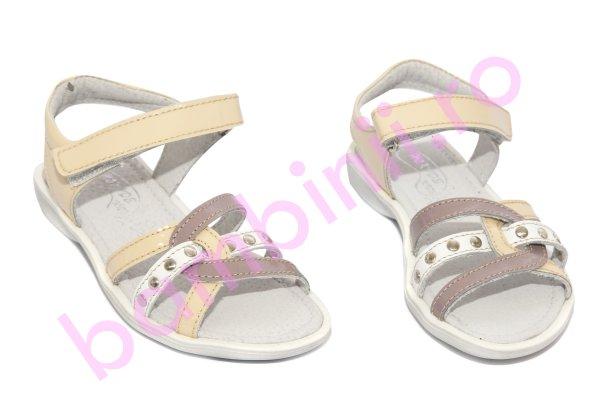 Sandale fete hokide 359 crem lac mov 26-32