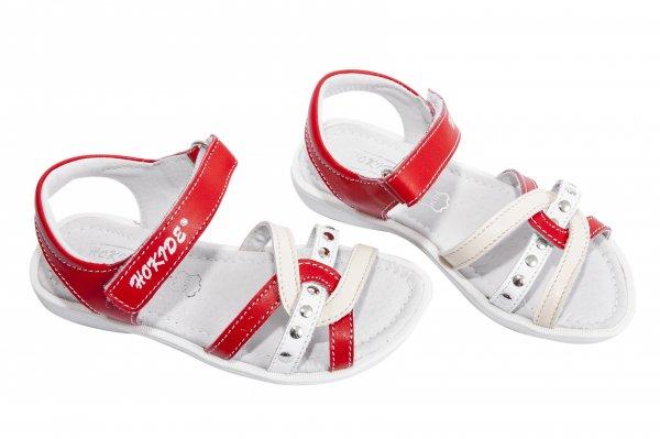 Sandale fete hokide 359 rosu alb 26-32