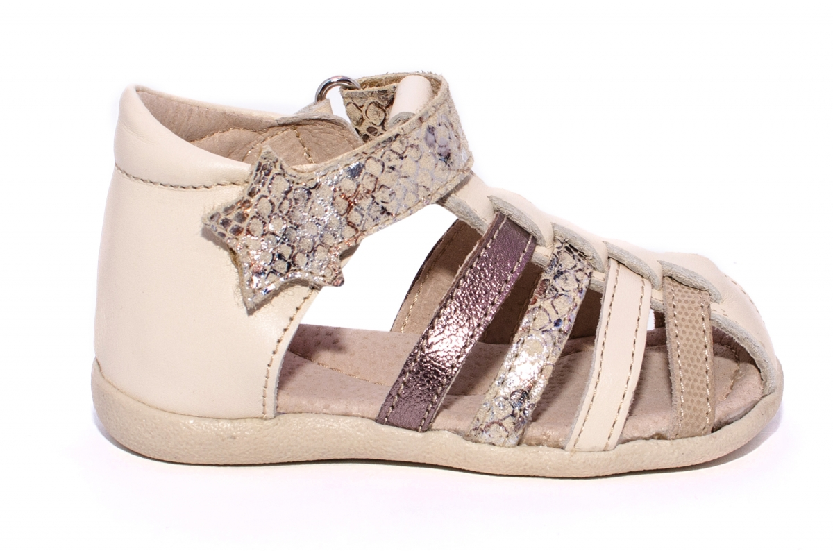 Sandale fete hokide 406 bej auriu 18-24