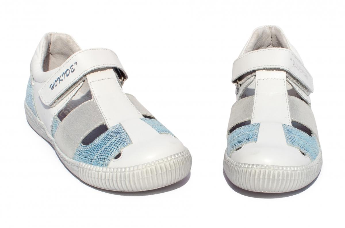 Sandale fete hokide 422 alb cielo 26-30