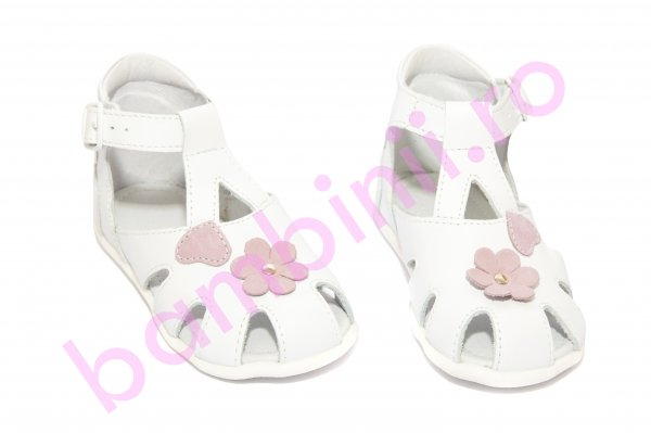 Sandale fete hokide 77 alb roz 18-24