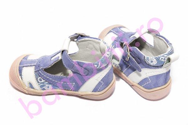 Sandale fete hokide piele 306 mov alb 20-25