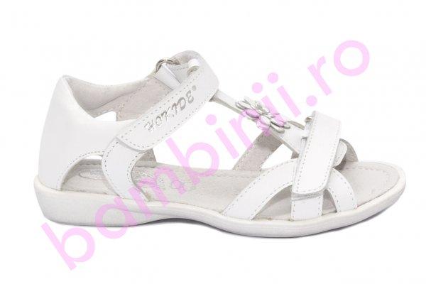 Sandale fete hokide piele 309 alb 26-32