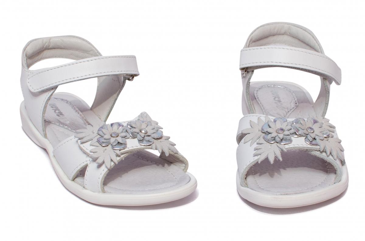 Sandale fete hokide piele 423 alb 26-32