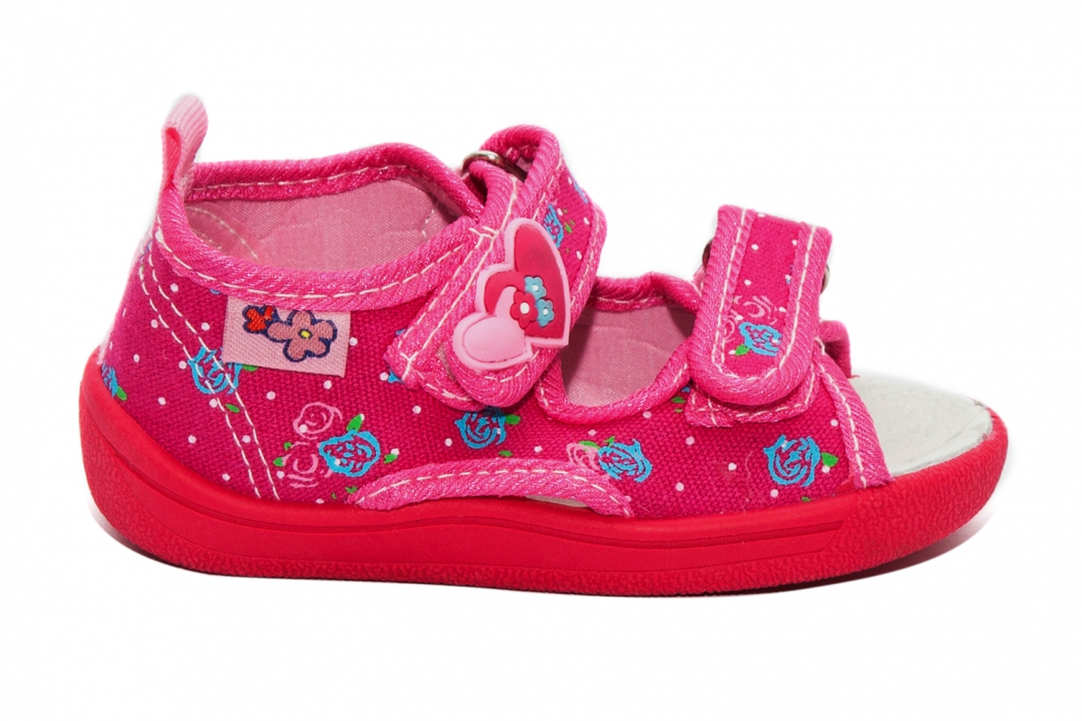 Sandale fete moi si flexibile brant din piele 1230 fuxia roz 20-25