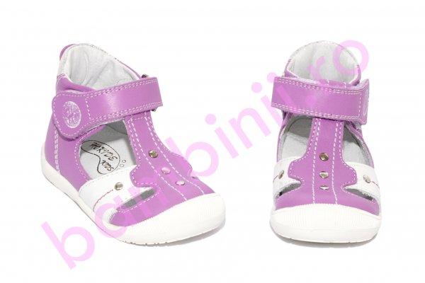 Sandale fete ortopedice hokide 273 lila alb 18-24