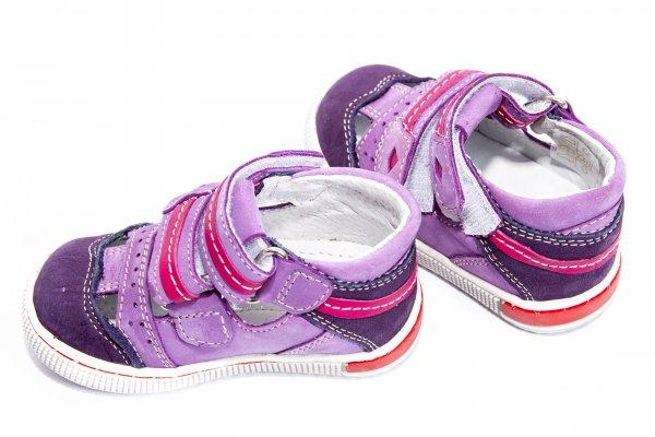 Sandale fete piele 120 mov 19-32