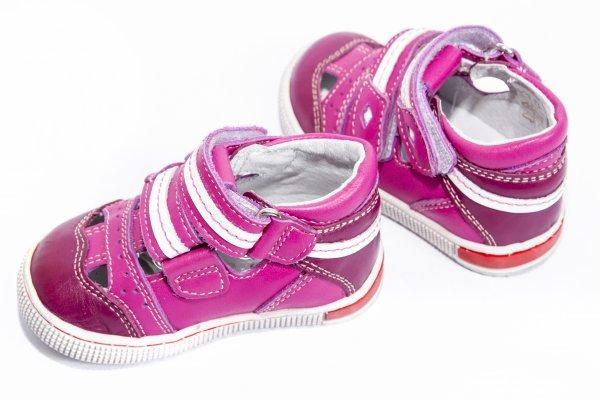 Sandale fete piele 120 roz 19-32