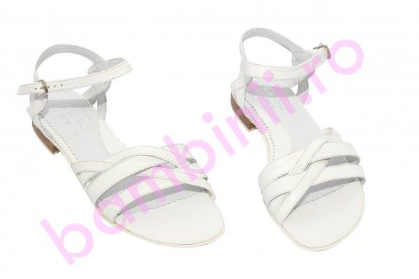 Sandale fete piele 121.8 alb 34-41