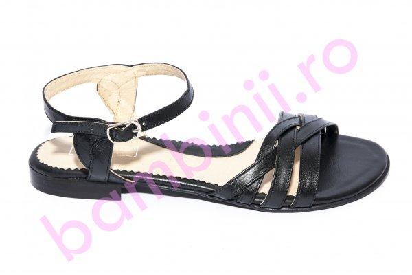 Sandale fete piele 121.9 negru 34-41