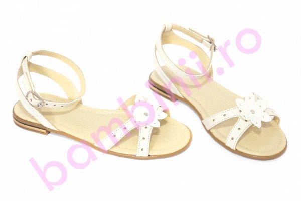 Sandale fete piele 1321 bej 26-36