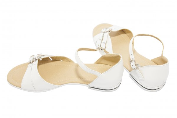 Sandale fete piele 1377 alb 26-36