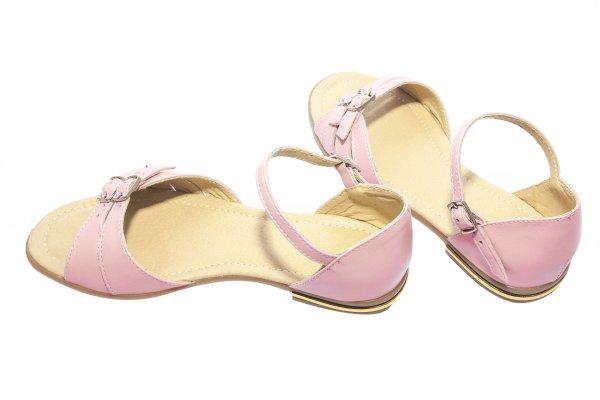 Sandale fete piele 1377 roz 26-36
