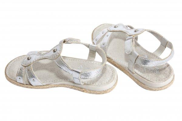 Sandale fete piele 5233 argintiu