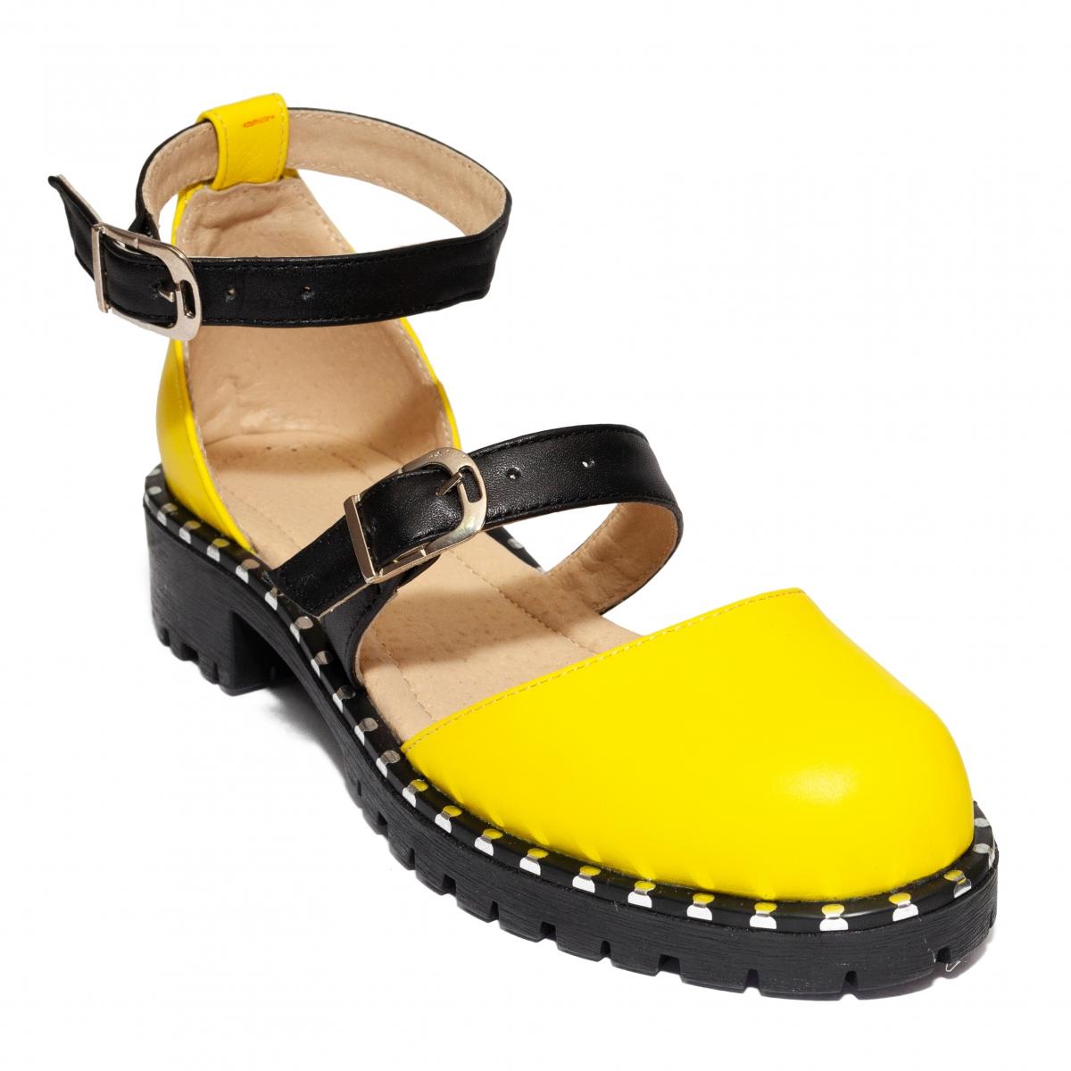 Sandale fete piele Cika new galben 36-40