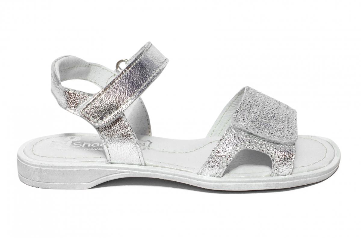 Sandale fete pj shoes Ana argintiu 27-36