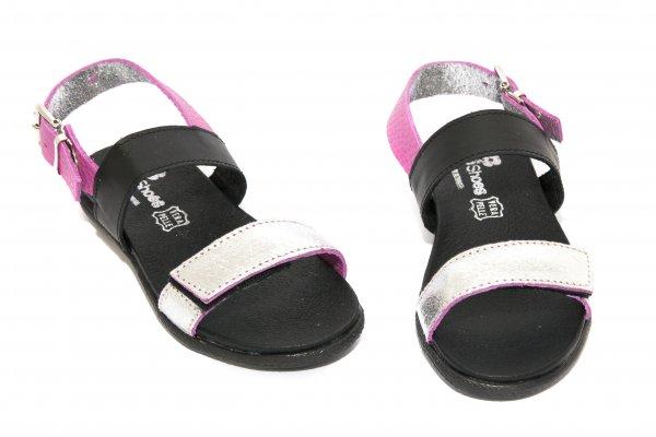 Sandale fete pj shoes Corso argintiu roz 27-36
