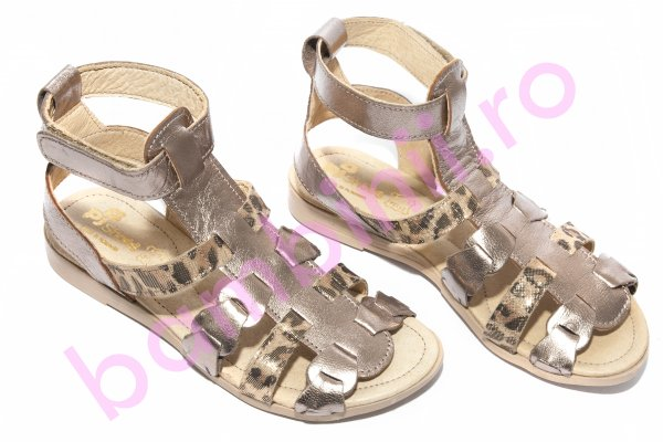 Sandale fete pj shoes dixie bronz