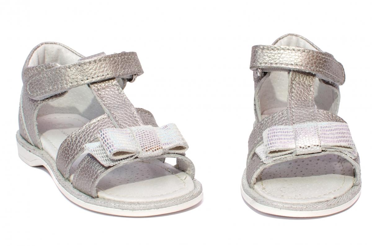 Sandale fete pj shoes Eva argintiu 20-26