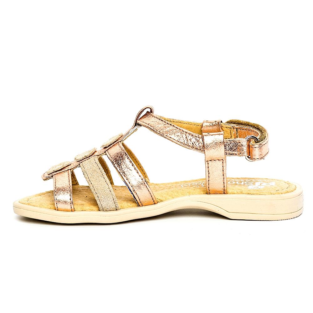 Sandale fete pj shoes Gladiator auriu bej 27-36