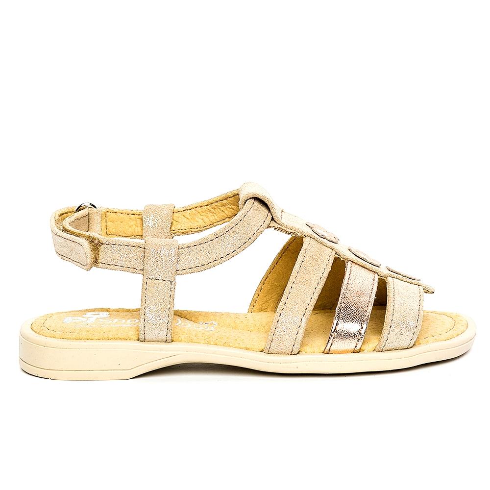 Sandale fete pj shoes Gladiator bej auriu 27-36