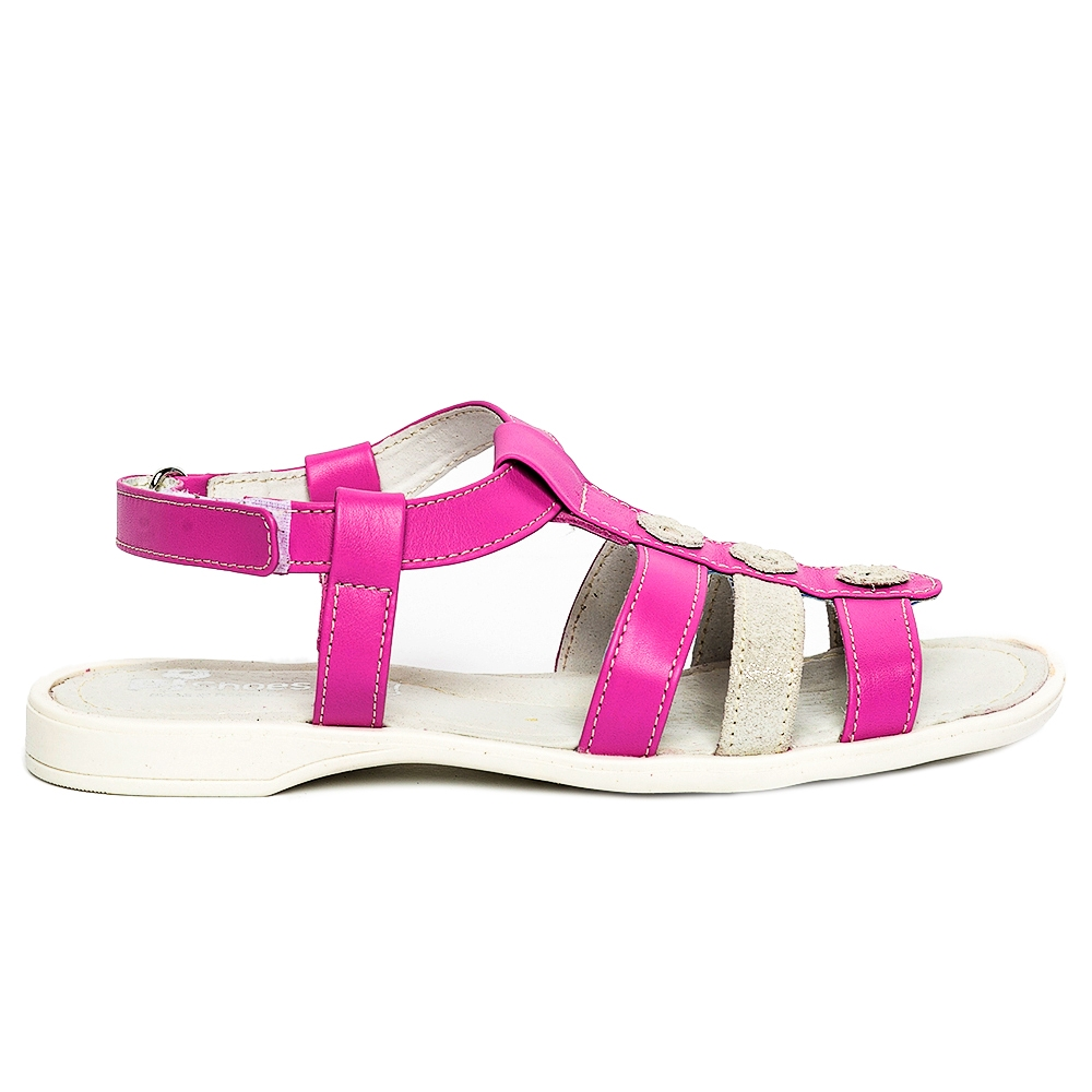 Sandale fete pj shoes Gladiator roz alb 27-36