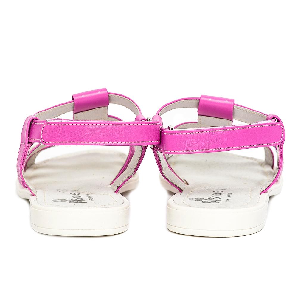 Sandale fete pj shoes Gladiator roz alb 27-36