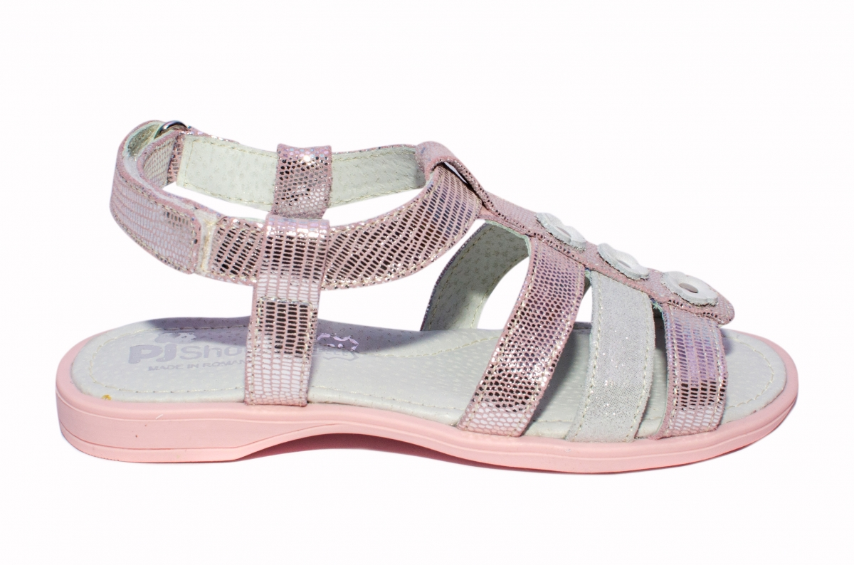 Sandale fete pj shoes Gladiator roz gri 27-36