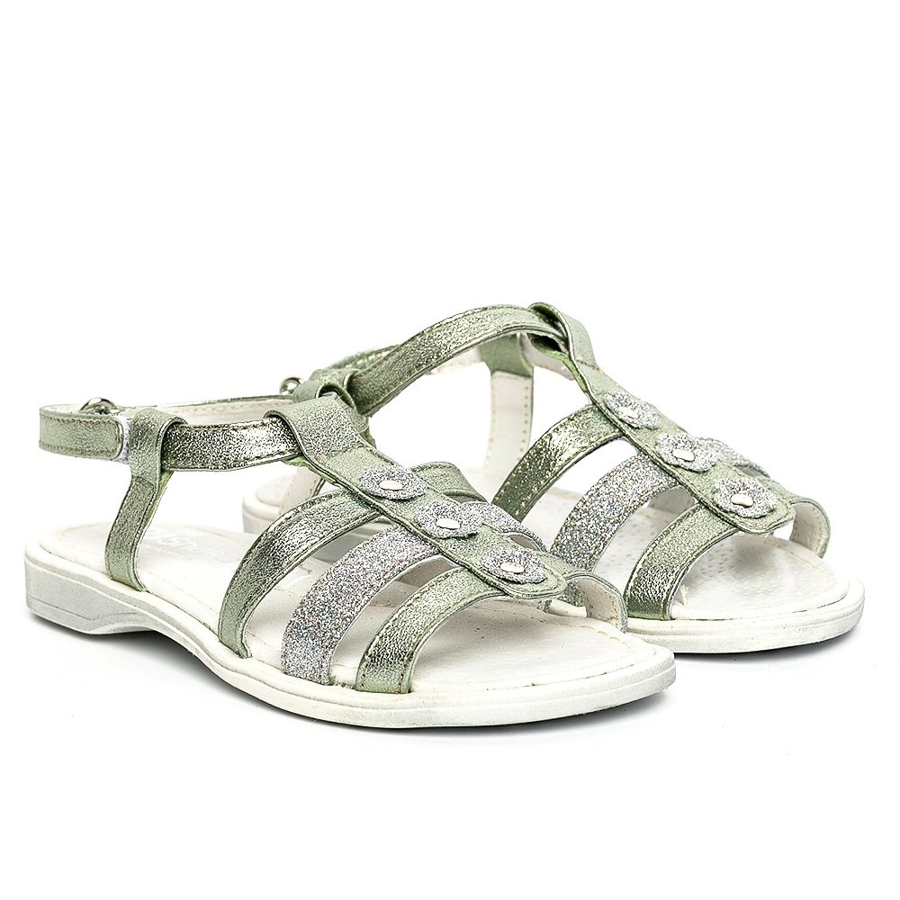 Sandale fete pj shoes Gladiator vernil 27-36