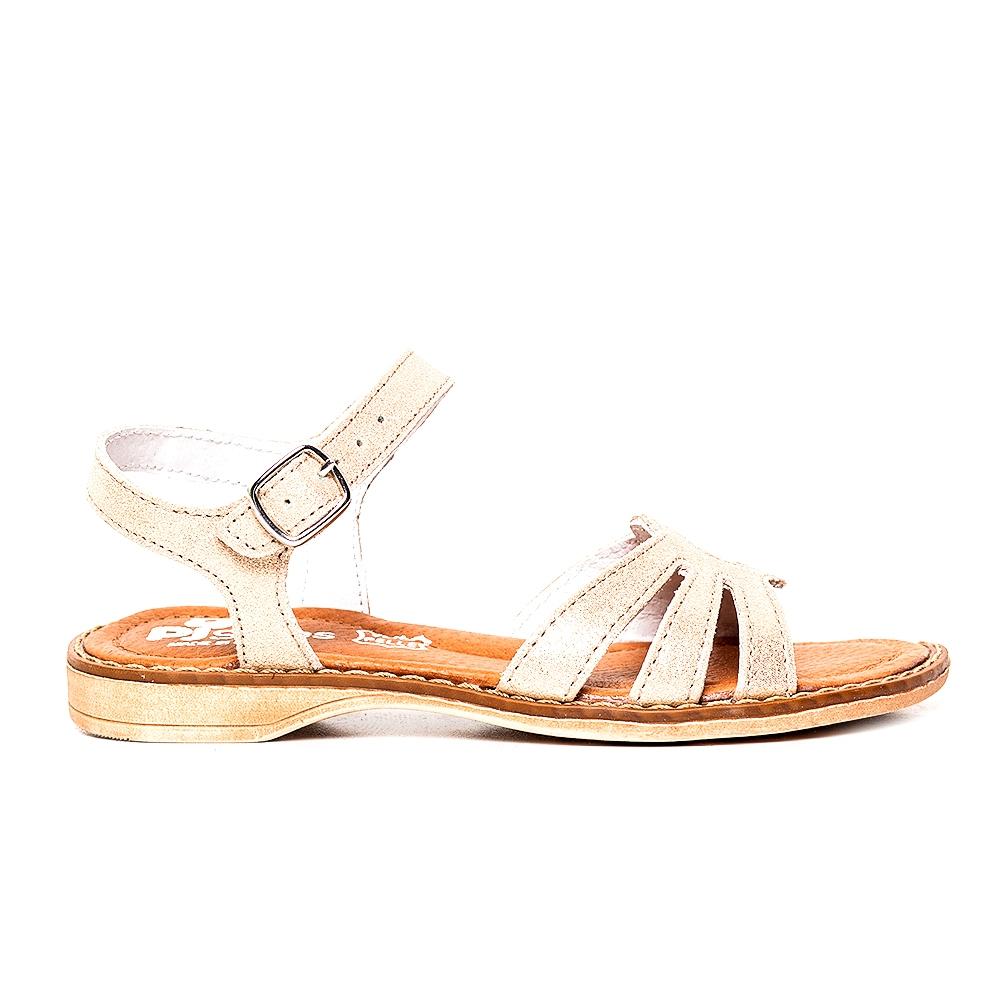 Sandale fete pj shoes din piele Core auriu 27-24