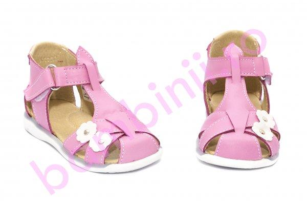 Sandale fetite piele naturala 346 ciclame 18-25