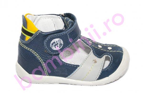 Sandale ortopedice baieti 273 blu gri galben 18-24